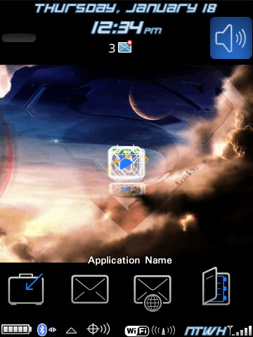 Superman theme for blackberry 95xx os4.7 themes