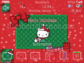 Hello Kitty Merry Xmas for blackberry 9780 themes
