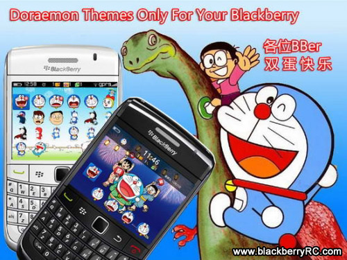 Doraemon for blackberry 9700,9780 os6 themes