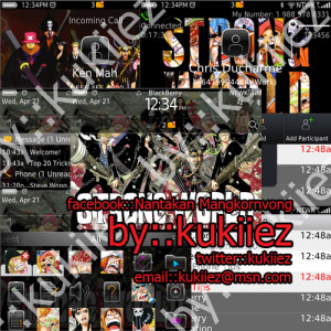 One Piece themes for blackberry 9780, 9650 os6.0