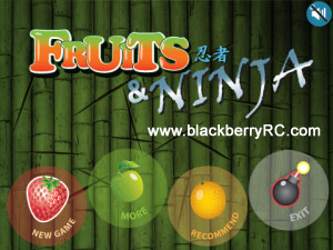 Free Fruits and Ninja v1.4.0 games for blackberry os5.0
