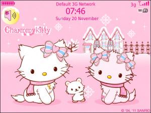Charmmy HelloKitty Pinky Winter - free blackberry themes