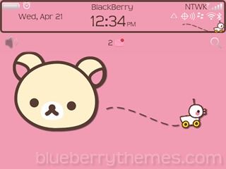 Korilakkuma OS6 theme for blackberry 9780, 9700