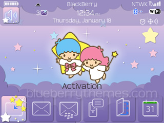 Cute Little Twin Stars for blackberry 9700 themes