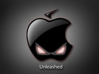 Black Apple for 3d wallpaper