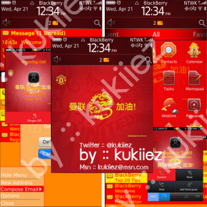 Man Utd for blackberry 9800 torch themes