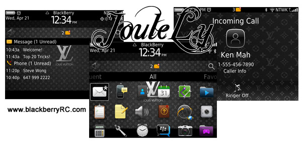 louis vuitton thema downloaden voor blackberry 9700