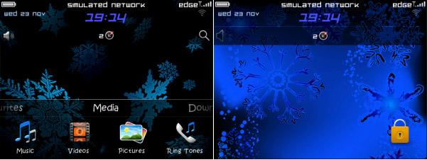 Disco Snow v3.0 - Animated Theme - free blackberry themes