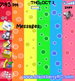 Rainbow Bubbles for blackberry 81xx themes os4.5