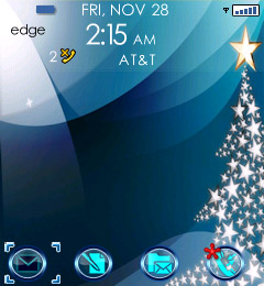 Christmas Star for blackberry 81xx themes