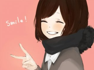 Smile cute girl for hd 360x480 wallpaper