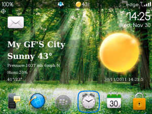 XWeather v1.8.0301 for blackberry os4.7-7.0 apps