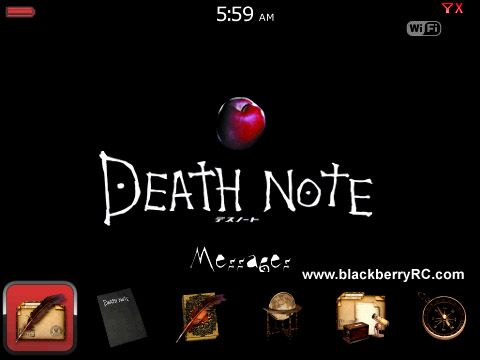 Death Note Bottom Dock for bb curve 8900 themes os4.6.1