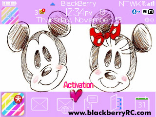 Tema Cute Mickey for blackberry 8520,9300 theme