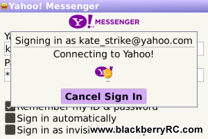 Yahoo Messenger 3.0.0.41 for blackberry 7.0-7.1 apps