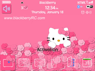 Hidden Kitty for blackberry 9780 bold themes
