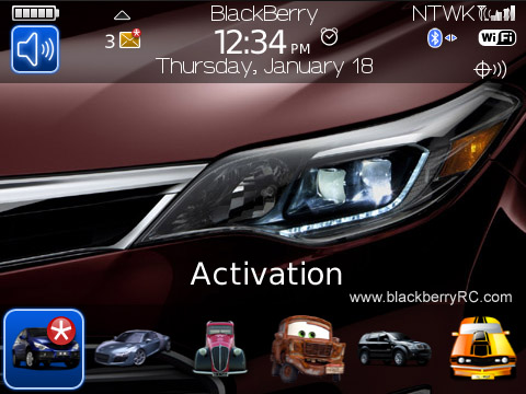 Toyota Avalon for blackberry 89xx,96xx,9700 themes