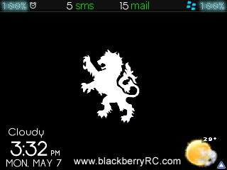Black Simple theme for blackberry 83,87,88 series
