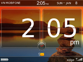 Os6 like Clock theme for blackberry 83xx,87xx,88x