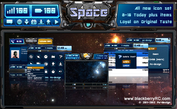 The Space theme for BlackBerry 97xx,96xx series(os5.0)