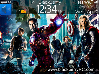 The Avengers 2012 for bb 9300 os 6 themes