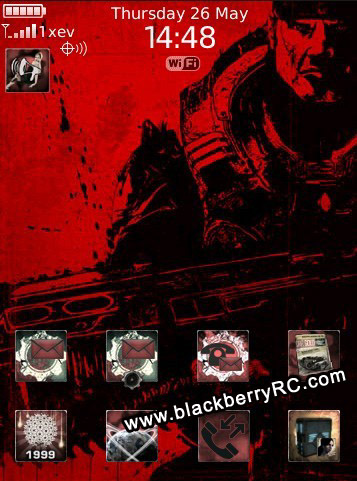 Gears of War Today theme for blackberry storm 95xx series