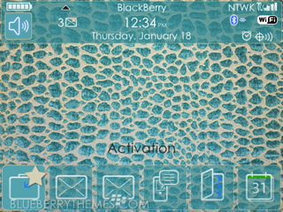 Green Animal Print for blackberry 89xx,96xx,9700 themes