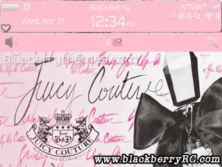 Pink Juicy Couture for blackberry 9300 curve themes