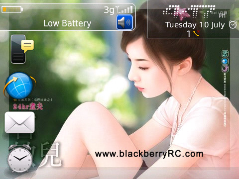 Beautiful Girl Os7 Icons For Bb 89xx 96xx 9700 Themes