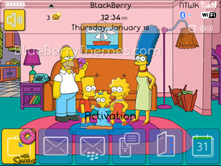 The Simpsons for blackberry 85xx,93xx curve themes