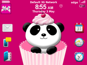Cherry Panda for blackbery 9900, 9930 themes os7