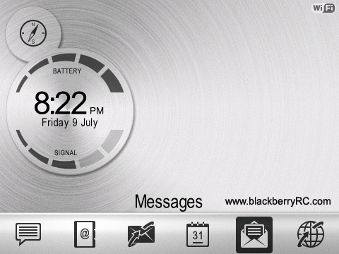 Metal Aluminium for blackberry 8520, 9300 themes