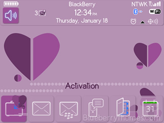 MidHearts for blackberry 8520, 8530, 9300 themes