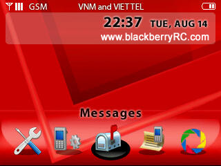 Red Verizon theme for blackberry 83xx,87xx,88xx themes