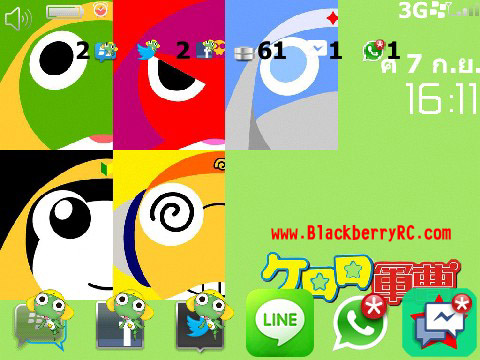 KERORO CARTOON SMILE for 85xx,93xx themes