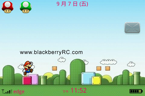 Cartoon Mario for BB 9000 bold themes
