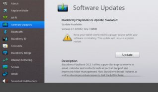 BlackBerry PlayBook update to OS 2.1