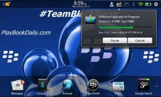 BlackBerry PlayBook Software Updated to v2.1.0.1088