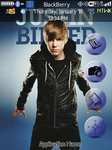 <b>Justin Bieber for 9800 torch themes</b>