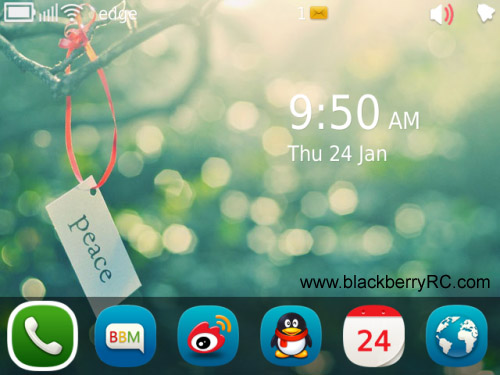 Meego demo theme for blackberry 9900, 9930 download