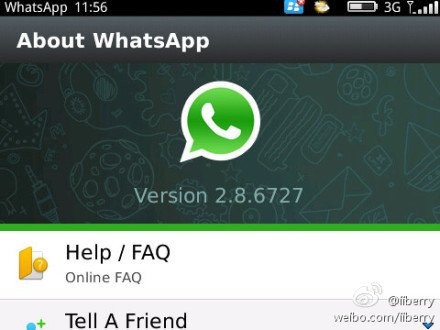 Whatsapp Messenger 2.8.6727 for os6.0 apps