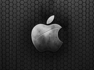 <b>Metal Apple Logo for bold 9900 wallpaper</b>