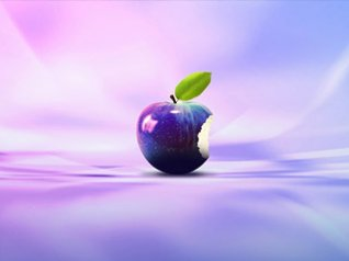 Purple Apple for blackberry 7 wallpaper