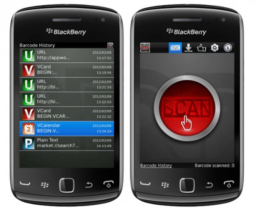 Barcode Scanner v2.1.5 for blackberry os6.0 apps