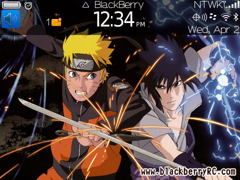 link ota naruto theme for blackberry 8520.