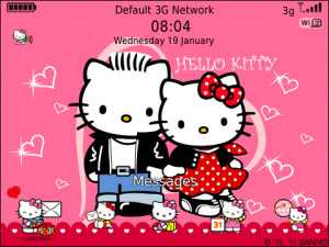 Hello Kitty has date on Valentines day Theme OS7.0