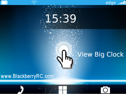 Touch Blue for BB 9900, 9930 BOLD themes Free Download
