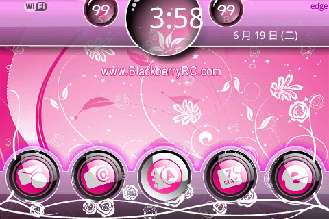 Blossom pink theme for bold 9000 os4.6 themes