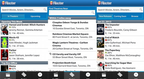 Flixster for blackberry 10 mobile apps