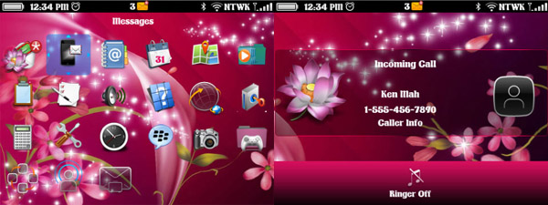Flower Sparkles for BB 9360,9350,9370,9620 themes - free
